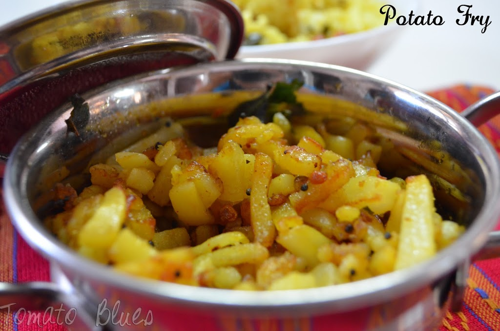 Simple potato fry south indian lunch special for Indian potato recipes for lunch