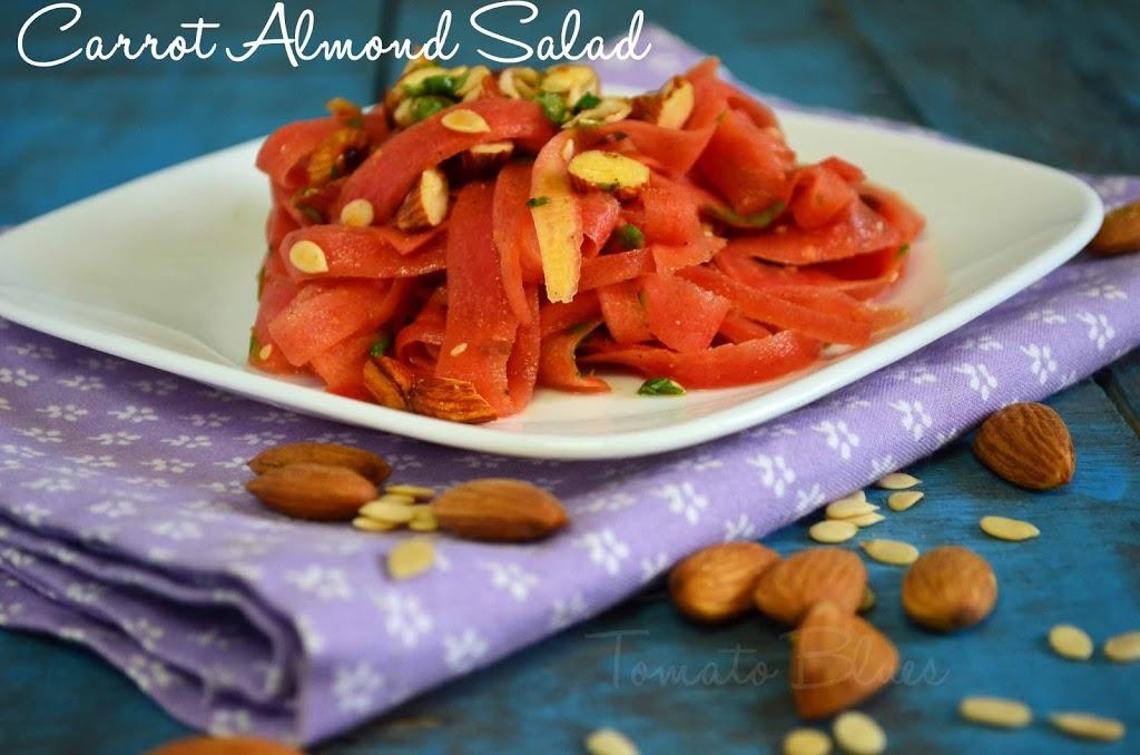 Carrot Almond Salad Recipe | Easy Salad Recipes -