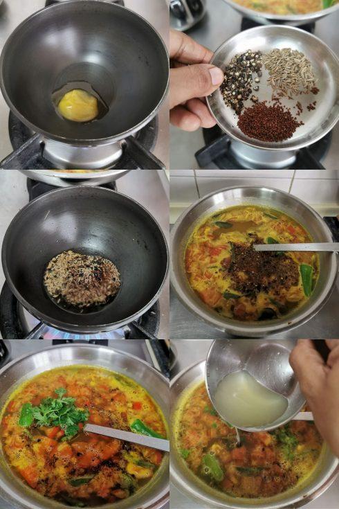 how to make lemon rasam step by step?