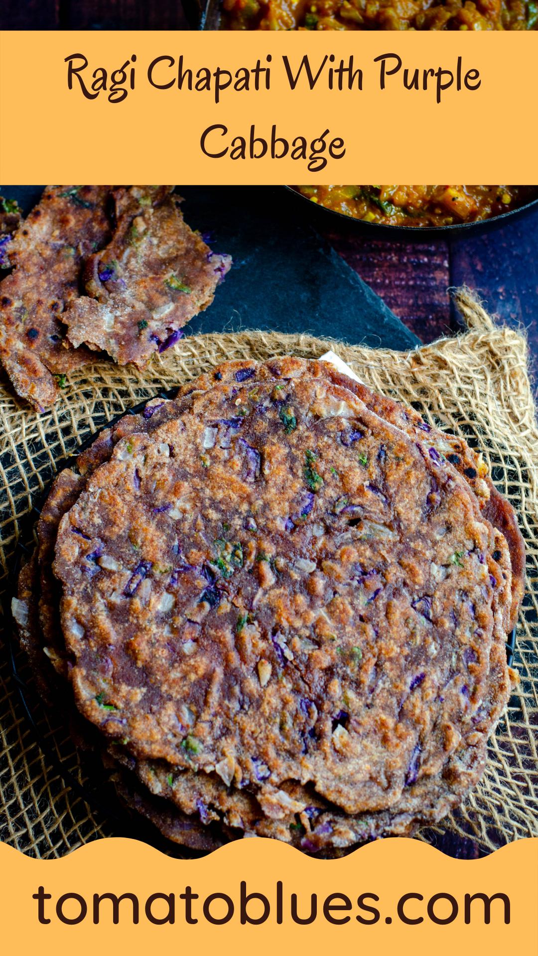 Ragi chapati pin image