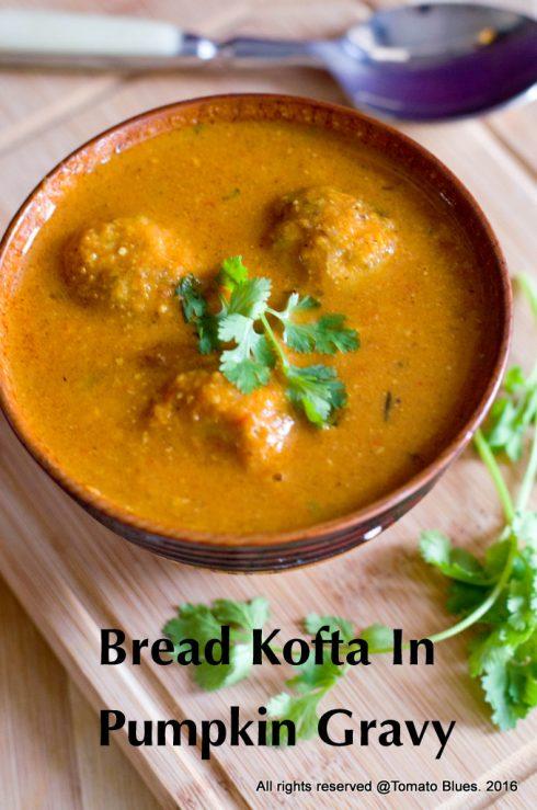 Bread Koftas In Red Pumplkin Gravy