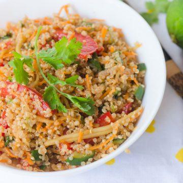 Thai style quinoa salad