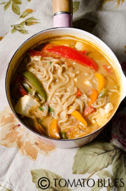 one pot vegetable ramen