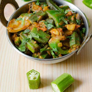 restaurant style bhindi do pyasa