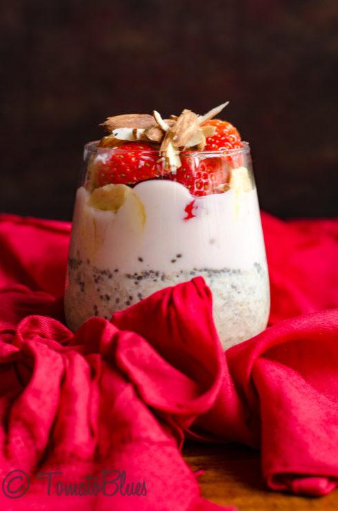 strawberry millet parfait