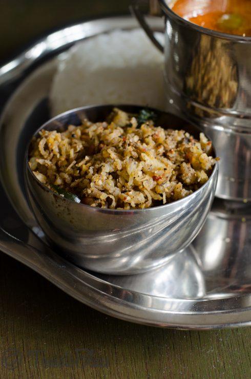 vazhakkai podi curry