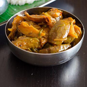 brinjal capsicum curry