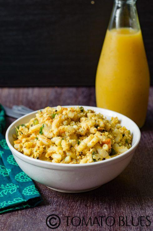 Masala egg pasta