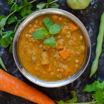 veg salna - Vegetarian parotta salna