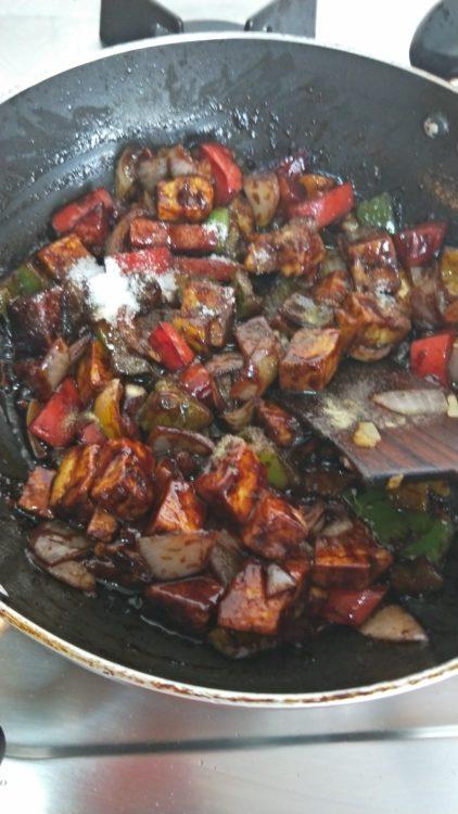 paneer bell pepper stir fry