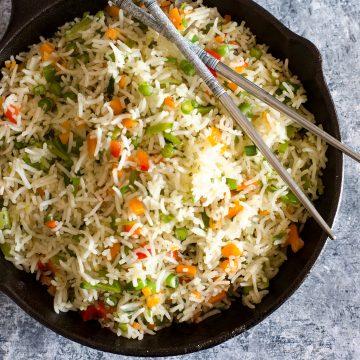 restaurant style vegetable fried rice