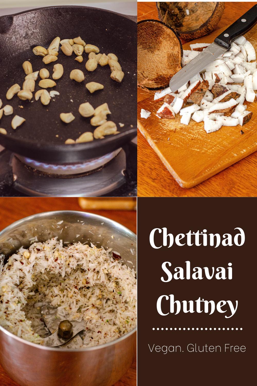 Steps involved in making Chettinad Salavai Chutney