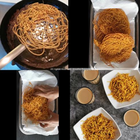 How to make Aloo bhujia step by step?