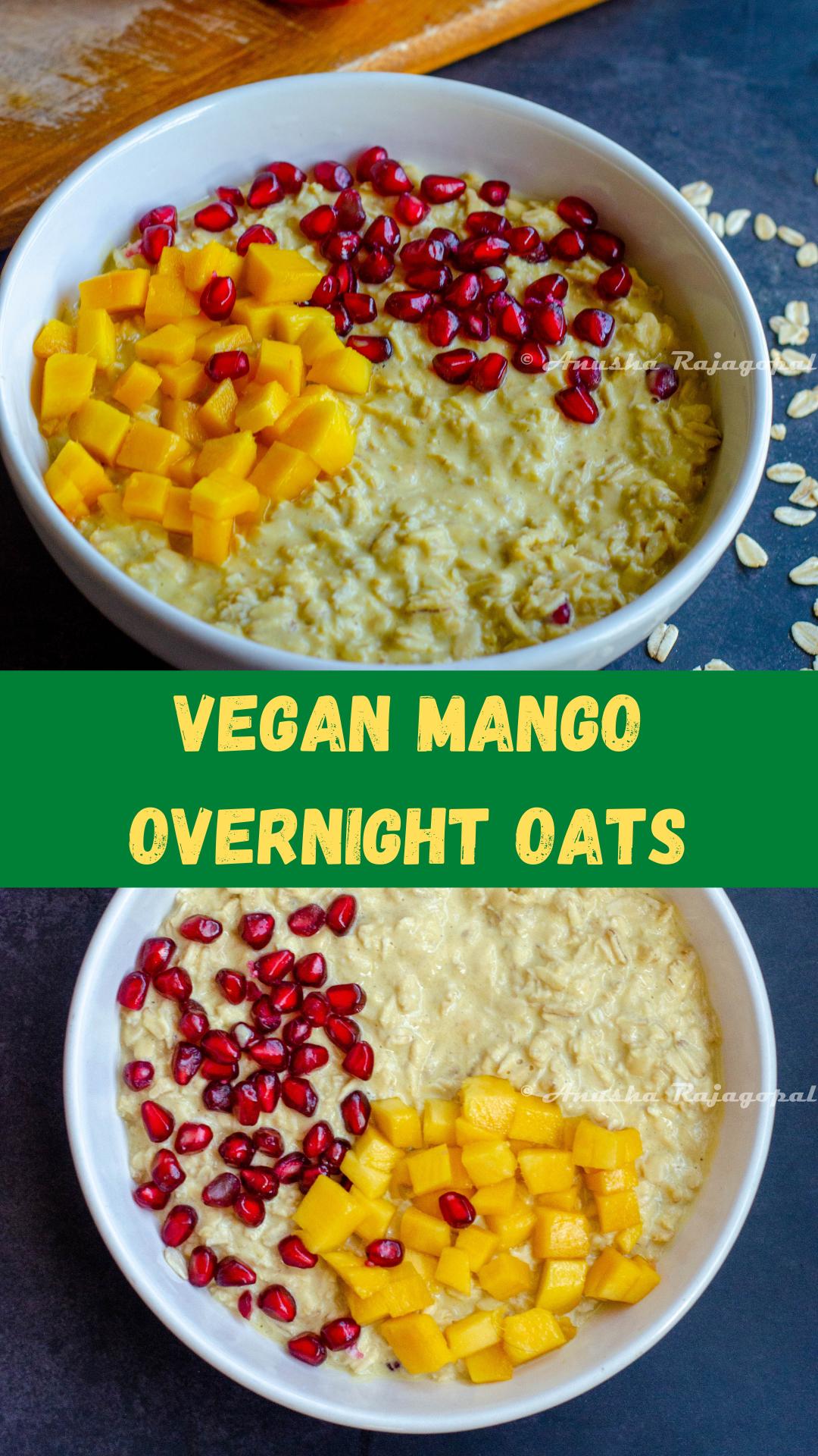 vegan mango overnight oats on pinterest