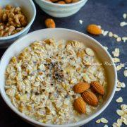 kesar badam overnight oats