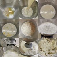 Proofing yeast for vegan dinner rolls