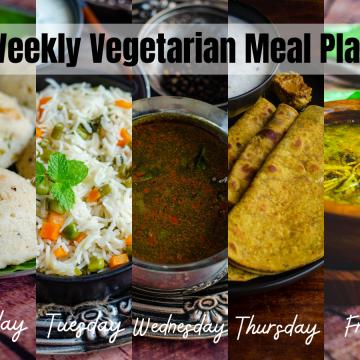 Weekly vegetarian meal plan 2