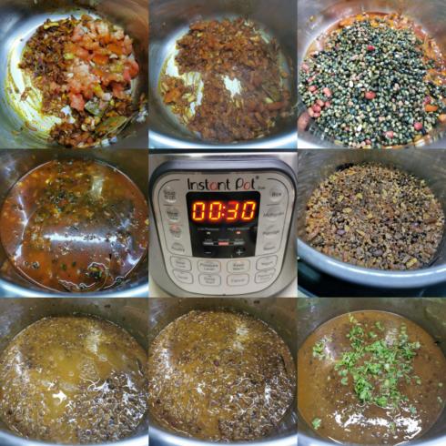 instant pot vegan dal makhani stepwise